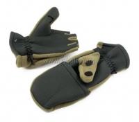 Рукавицы-перчатки TR с обрезанными пальцами неопреновые с флисом