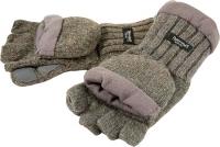 Рукавицы-перчатки с обрезанными пальцами вязаные с флисом цветные