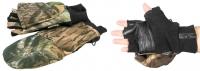 Рукавицы-перчатки с обрезанными пальцами камуфляж