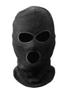 Шапка-маска TR вязаная черная 3 отверстия