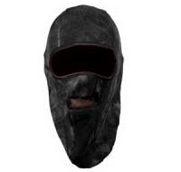 Шапка-маска флис 2 отверстия + сетка чёрная