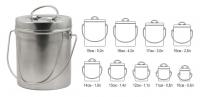 Набор котелков Comfortika из пищевой нержавеющей стали (6 или 9 шт.)